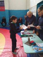 Новогоднее первенство Адыге-Хабльского муниципального района по вольной борьбе среди младших школьников